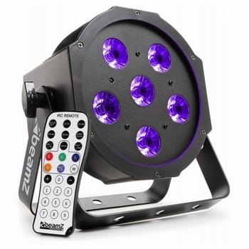 BeamZ BFP130 FlatPAR 6x 6W UV LED's