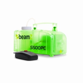 BeamZ S500PC transparante rookmachine met LED