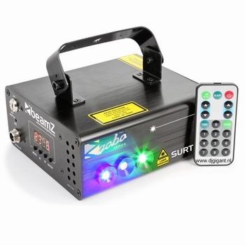 BeamZ Surtur II Double Laser RG Gobo IRC 3W Blauwe LED