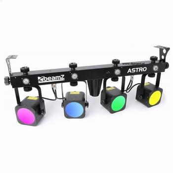 BeamZ  Astro Parbar 4x 20W COB + 4x 1W Witte LEDs